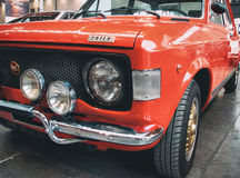 Fiat 128 rally red color Royalty Free Stock Photo