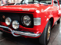 Fiat 128 rally red color Royalty Free Stock Image