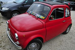 Fiat 500. Red stock photography