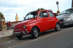 Fiat 500 red Stock Photo