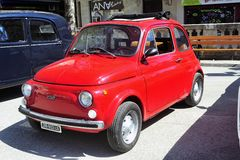 Fiat 500 red Stock Photography