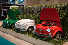 Fiat 500 refrigerators at Host 2013 in Milan, Italy Royalty Free Stock Photography