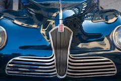 Fiat retro samochód na ulicie Verona obrazy royalty free