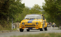 Fiat Ritmo Abarth. A Fiat Ritmo Abarth attends the 33th edition of Coppa del Chianti Classico  a competition race of hill-climb for Historical cars valid for Stock Photography