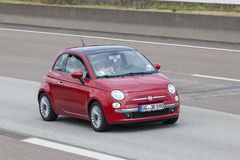Fiat 500 on the road Stock Photo