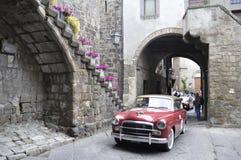 Fiat rojo 1900 un Berlina Imágenes de archivo libres de regalías