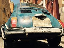 Fiat 500 in Rom Italien Lizenzfreies Stockfoto