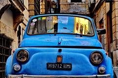 Fiat 500 in Rome Royalty-vrije Stock Foto