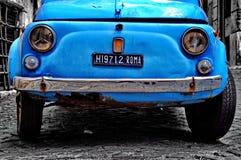 Fiat 500 in Rome. Royalty-vrije Stock Afbeelding