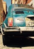 Fiat 500 in Rome Italië Stock Afbeelding