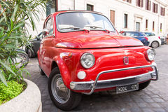 Fiat 500 in Rome, Italy Royalty Free Stock Photos