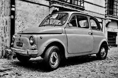 A Fiat 500 in Rome Royalty Free Stock Photography