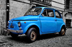 A Fiat 500 in Rome Royalty Free Stock Photo