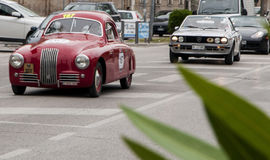 FIAT S 1100 berlinetta Gobbone 1948 i Lancia Zdjęcia Stock