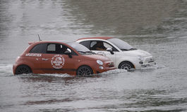 Fiat at sea Royalty Free Stock Photography