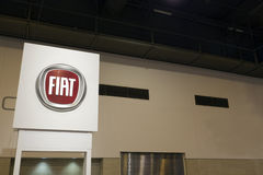 Fiat Sign. HOUSTON - JANUARY 2012: A Fiat sign at the Houston International Auto Show on January 28, 2012 in Houston, Texas Stock Image
