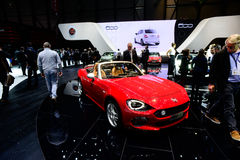 Fiat 124 Spider convertible Royalty Free Stock Images