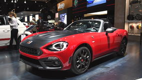 Fiat 124 Spider front-engine, rear-drive two-passenger roadster stock footage
