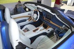 Fiat 124 spider Mole Costruzione Artigianale. At salone dell`auto Torino NEW OPEN AIR CAR SHOW Stock Photography