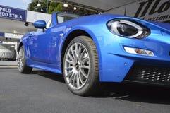 Fiat 124 spider Mole Costruzione Artigianale. At salone dell`auto Torino NEW OPEN AIR CAR SHOW Stock Image