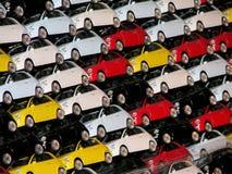 Fiat 500 Spielwaren lizenzfreies stockfoto