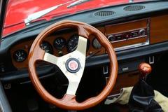Fiat 124 sporta pająk Zdjęcia Royalty Free
