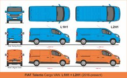 Free Fiat Talento Cargo Van L1H1 And L2H1 2016-present Royalty Free Stock Photography - 152258607