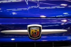 Fiat 500  on 54th Belgrade international car and motor show. royalty free stock image