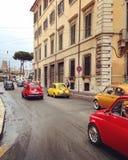 Fiat 500 toont Stock Afbeelding