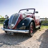 Fiat topolino car. VERONA, ITALY - SEPTEMBER 27: Topolino car. Topolino Autoclub Italia organizes a gathering on Lake Garda Sunday, September 27, 2014. Cars and Royalty Free Stock Photo