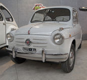 Fiat 500 Topolino. CASALE MONFERRATO, ITALY, MARCH 21, 2015: Fiat 500 Topolino, model of early Fifties. Fiat 500 is a long storied car model with plenty of sales Royalty Free Stock Photo