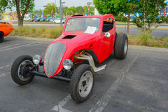 Fiat Topolino Drag Racer classic car on display Royalty Free Stock Images