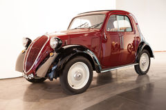 Fiat Topolino. Malaga, Spain: April 28, 2013 - Malaga Car Museum, classic car Fiat Topolino (Italy 1936). Malaga Car Museum holds one of the largest vintage Stock Photography