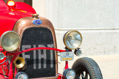 A Fiat Topolino at the vintage car show. San Pellegrino Terme, Italy -16 July 2017: A Fiat Topolino at the vintage car show Stock Images
