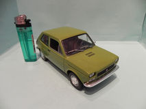 Fiat 127. Trieste, TS, Italy - March 5, 2015: My miniature of an old Fiat 127, an example of Italian design Royalty Free Stock Image