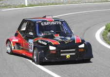 Fiat 126 prototype. Fiat 126 turbo racing prototype during the race in Praglia ascent Stock Photos
