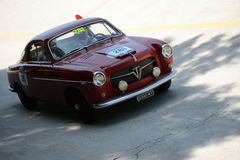 1954 Fiat 1100 TV Pininfarina at the Mille Miglia. Monza circuit hosted a stage of the 2016 Mille Miglia Stock Images