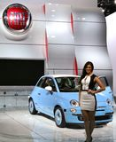 Fiat vehicle and model at the NAIAS Stock Photo