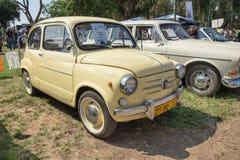 Fiat 600 (1970) vintage car presented on annual oldtimer car show, Israel. RAMAT-GAN, ISRAEL - OCTOBER 6, 2017: Fiat 600 (1970) vintage car presented on annual stock photos