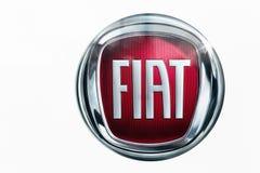 Fiats-Logo auf einer Wand Stockbild
