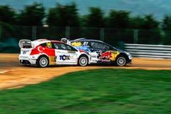 FiaWorldRx-podio Rx Lites Tazza-Timur Immagini Stock