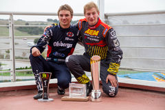 FiaWorldRx-Podium Rx Lites Cup-Podium Boys. FIA World Rallycross Championship presented by Monster Energy, World RX of Turkey, have revealed 20 Supercar entries royalty free stock images