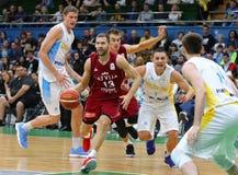 FIBA世界杯2019个合格者:乌克兰v拉脱维亚在Kyiv 图库摄影