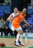 FIBA妇女欧洲篮球锦标赛2019年:乌克兰v荷兰 库存照片