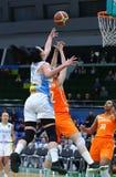 FIBA妇女欧洲篮球锦标赛2019年:乌克兰v荷兰 库存图片