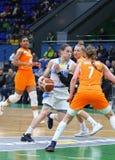 FIBA妇女欧洲篮球锦标赛2019年:乌克兰v荷兰 免版税图库摄影