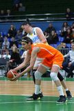 FIBA妇女欧洲篮球锦标赛2019年:乌克兰v荷兰 免版税库存照片