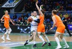 FIBA妇女欧洲篮球锦标赛2019年:乌克兰v荷兰 免版税库存图片