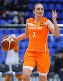 FIBA-EuroBasket 2019 van Vrouwen: De Oekraïne v Nederland royalty-vrije stock afbeeldingen