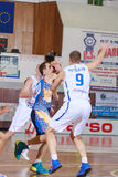 FIBA EuroChallenge:: Π.Χ. Mures εναντίον Tsmoki Μινσκ στοκ φωτογραφία με δικαίωμα ελεύθερης χρήσης